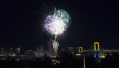 (Nose in a book) Tags: holiday japan tokyo odaiba fireworks rainbowbridge tokyobay