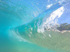 backside barrel (bluewavechris) Tags: maui hawaii ocean water sea barrel tube gopro knekt underwater