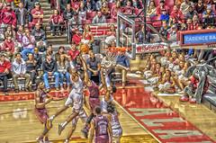 Defending the Basket. (Redbird310) Tags: sec texasamaggies basketball sports ncaa college