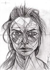 Donna Enigmatica #1 - Carolyn Murphy - Artist Leon 47 ( Leon XLVII ) (leon 47) Tags: carolyn murphy donna enigmatica donne enigmatiche enigma enigmatic woman metafisica friedrich nietzsche giorgio de chirico