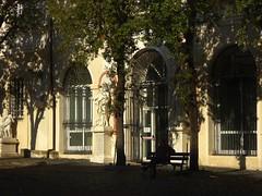 sosta al Santuario (fotomie2009) Tags: architecture architettura shadow ombre porte finestre windows savona santuario autunno liguria italy italia