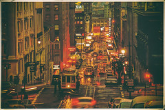 Vintage San Francisco (Thomas Hawk) Tags: america california sanfrancisco usa unitedstates unitedstatesofamerica vintage cablecar neon neonsign night postcard fav10 fav25 fav50 fav100