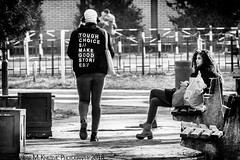 But Not With You! (Aleksandar M. Knezevic Photography) Tags: bekgrade beograd serbia srbija street ulica streetphoto streetphotography urban bw monocrhome people park meeting walking girl boy nolove ngc
