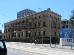 Treasury Building, Melbourne (d.kevan) Tags: australia melbourne cbd treasurybuildings historicbuildings architecturaldetails streetscenes tramlines streetlamps 1862