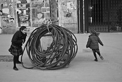 The black and white collection  IV (AKPhotoPro) Tags: street kids play school