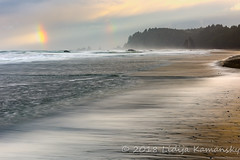 Stormy Morning at Rialto Beach (Lidija Kamansky) Tags: olympicnationalpark olympicpeninsula pacificcoast pacificnorthwest pacificocean rialtobeach washingtonstate autumn beach beautyinnature blurredmotion clouds coast coastal fall landscape longexposure nature outdoors rainbow rainbows scenics seastack seashore seastacks sky water waves