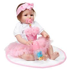 22 Inch Handmade Vinyl Silicone Reborn Baby Dolls Lifelike Toddler Girl Doll Gift Christmas (1233976) #Banggood (SuperDeals.BG) Tags: superdeals banggood home garden 22 inch handmade vinyl silicone reborn baby dolls lifelike toddler girl doll gift christmas 1233976