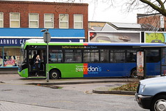 TD 2784 @ Swindon bus station (ianjpoole) Tags: thamesdown swindons bus company alexander dennis enviro 200mmc hf67auk 2784 western firebrand working route 5 haydon wick orbital park cavendish square north