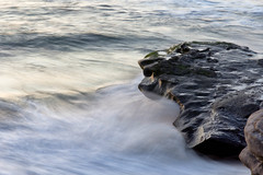Waves and Rocks at Sunset (Photos By Clark) Tags: subjects canon60d beachshots canon2470 sandiego california unitedstates us lightroom nik colorefx pacific waves longexposure tripod beach