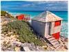 Caribbean Beach Huts (plismo) Tags: beach beachhuts shore plismo water sea ocean sky caribbean fujifilmfinepixs8600 fujifilm finepix s8600 cayolargodelsurairport isladelajuventud cuba cayolargodelsur cayolargo delsur