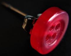 Less Than An Inch (Espykrelle) Tags: lessthananinch macro macromondays earring explore theme button bouton boucledoreille rouge red moinsdunpouce jewel bijou hmm