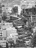 Lombard Street, San Francisco (B&W) (jonhuskisson) Tags: california sanfrancisco city street hill blackwhite blackandwhite bw monochrome travel lombardstreet windy swtchbacks