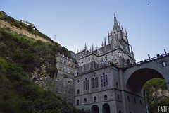 La iglesia del santuario de Nuestra Señora de las Lajas