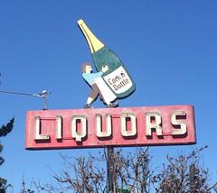 CORK N' BOTTLE PACIFIC GROVE CALIF (ussiwojima) Tags: corknbottleliquorstore pacificgrove california neon advertising sign liquor