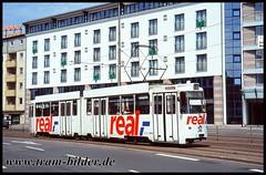 6956-1995-06-20-1-Auguststraße (steffenhege) Tags: braunschweig bsag tram tramway strasenbahn streetcar lhb gelenkwagen 6956