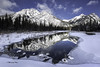 Ice Mirror! (Canon Queen Rocks (2,130,000 + views)) Tags: ice sky scenery scenic snow water winter reflections mountains mountain mountainpeak mountainside frozen kananaskis alberta clouds canada bluesky blues trees momentsbycelinecom rockies nature landscape mt laurette tree march