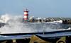 [Storm] (pienw) Tags: storm sea waves northsea noordzee water sky breakers seascape weather beacon scheveningen