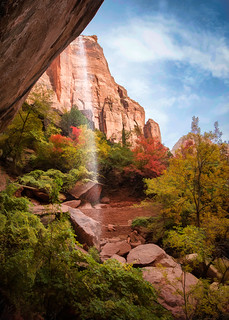 Zion Weeping Rock - Textured HDR