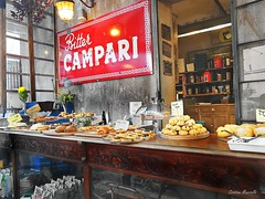 Italian Breakfast (Cristian Mauriello) Tags: italian breakfast colazione dolci dessert color street city urban shop bar snack confectionery pasticceria biscotti cookies pastry bakery red campari grey brown light