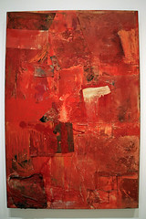 Untitled (red painting), by Robert Rauschenberg (JB by the Sea) Tags: sanfrancisco california december2017 urban financialdistrict sanfranciscomuseumofmodernart sfmoma robertrauschenberg painting