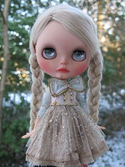 Another outdoor snowy shot of Luna.  Can't bring myself to take her out of this dress. She looks so perfect in it.