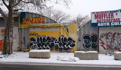 "Remaining Muffler Shops Of Willets Point; Queens, New York • <a style=""font-size:0.8em;"" href=""http://www.flickr.com/photos/59126773@N08/38940321964/"" target=""_blank"">View on Flickr</a>"