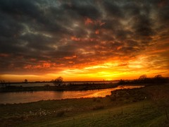 Sunset part.... (Jaco Verheul) Tags: sunset jaco verheul samsung s7 snapseed sky cloud clouds cloudporn outdoor water lake sun haringvliet landscape waterscape