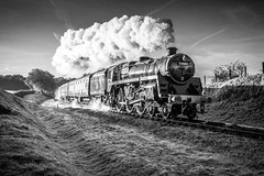 Black & white magic! (Tony Teague (Slowcomo)) Tags: brmk1stock bluebellrailway canonef24105mmf4lisusmlens canoneos5dmkiv jonbowerscharter no73082camelot sussex bloodcustardlivery heritagerailway preservedrailway steamrailway steamlocomotive tonyteague