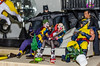 Fun on Tony's Sofa (misterperturbed) Tags: batman batmanvsupermandawnofjustice blackadam dccomics harleyquinn jsa justicesocietyofamerica mezco mezcoone12collective one12collective suicidesquad thejoker wolverine xmen