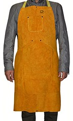 ZaoProteks ZP4001 Cowhide Leather Heat Resistant Welding Apron, Work Apron, Work Apparel with Bib Pocket --- Great for Welding , Barbecue , Grinding , Woodturning and so on - DiZiWoods Store (diziwoods) Tags: apparel apron barbecue bib cowhide diziwoods great grinding heat leather pocket resistant store welding woodturning work zaoproteks zp4001