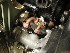 Me109 G2  WrkNr 14055  NI + BY (flyhistorie) Tags: daimlerbenz db605 engine switch wiring system me109 bf109 messerschmitt sola flymuseum jærmuseet luftwaffe jg5 restoration original interiør cable detail pump hydraulikk