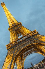 Eiffel Tower at an Angle (Inian4mIndia) Tags: eiffel eiffeltower tower structural tall tallest wonder world night light lights paris france beautiful greatview view angle popular famous nikon