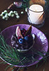 Cupcake with fig and berries on Christmas table (Galina Zhigalova) Tags: cupcake cake pastry sweet cream chocolate dessert birthday pie gold box breakfast fruit purple blueberry muffin background white berry cherry bakery homemade raspberry fig red food fresh tasty snack gourmet confectionery delicious holiday celebration nobody party wooden table flowers taepot serving greens top view closeup spoon plate vintage square tree christmas merry new year winter