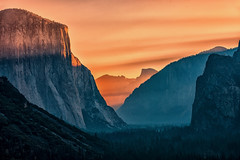 Yosemite Valley at Sunrise by Ted Holm -
