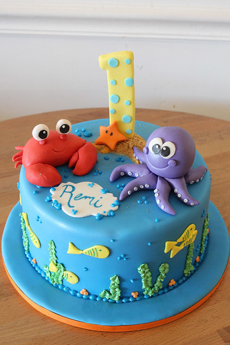 Single Tier Underwater Cake
