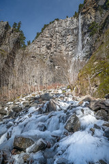 Snoquera Falls (writing with light 2422 (Not Pro)) Tags: snoquerafalls washingtonstate waterfall plunge veil talus rocks cliff richborder sonya7 vertical landscape