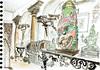 Pondichéry - Puducherry, India (Croctoo) Tags: croctoo croctoofr croquis crayon aquarelle watercolor magasin boutique india inde puducherry pondichéry