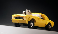 Crusher (_Tiler) Tags: lego car vehicle camaro crusher hotrod dragrod drag 1967chevycamaro roadkill