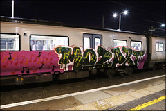 (Alex Ellison) Tags: paintedtrain panel runner london urban graffiti graff boobs passengertrain night