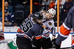 "Kansas City Mavericks vs. Indy Fuel, February 17, 2018, Silverstein Eye Centers Arena, Independence, Missouri.  Photo: © John Howe / Howe Creative Photography, all rights reserved 2018 • <a style=""font-size:0.8em;"" href=""http://www.flickr.com/photos/134016632@N02/39676656184/"" target=""_blank"">View on Flickr</a>"