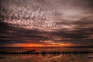 Abendstimmung an der Nordsee - Evening mood at the North Sea