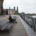 Admirando o Rio Elba, em Dresden