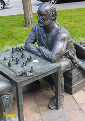 Street Art/Sculpture, Ramsey, Isle of Man (staneastwood) Tags: city road staneastwood stanleyeastwood statue sculpture viking sailor chess