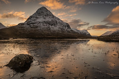Buachaille Etive Beag - Frozen Reflections (.Brian Kerr Photography.) Tags: scotland visitscotland scotspirit scottishhighlands scottishlandscape landscape formatthitech firecrest sony a7rii glencoe buachailleetivebeag frozen winter owl bird animal rocks sunset snow briankerrphotography briankerrphoto