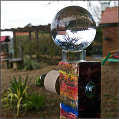 064.3 Posted (Dominic@Caterham) Tags: post roses ball inversion sunlight winter sky lens park