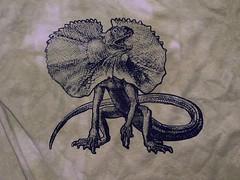 Frillnecked Lizard (craftyscientists51) Tags: geekshirt science tshirt geek animal men screenprint punk biology teacher women handmade