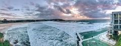 Bondi Beach (FlavioSarescia) Tags: panorama bondibeach beach australia sydney travel landscape sea ocean iphone summer sunrise sky clouds icebergs icebergspool iconic hss