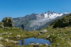 Walking peacefully (Còm Anem) Tags: mountain alps landscape chamonix glacier snow montaña