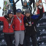 Hanna Schulze and Sage Stefani of Red Mountain Racers take gold and silver at Lake Louise Western SX race
