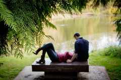 Engagement Photo (htgilmore) Tags: ui arboretum pond engagement love blur focus bench